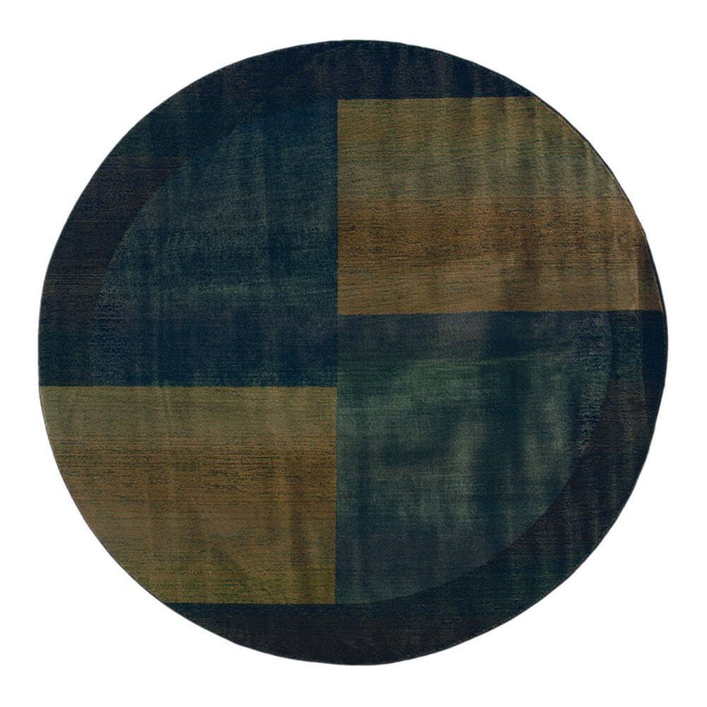 Oriental Weavers Kharma II 1092L 6.0 Round Blue Area Rug, , large