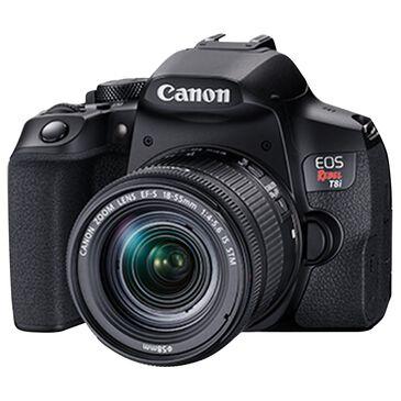 Canon EOS Rebel T8i EF-S 18-55mm f/4-5.6 IS STM Kit Camera in Black, , large