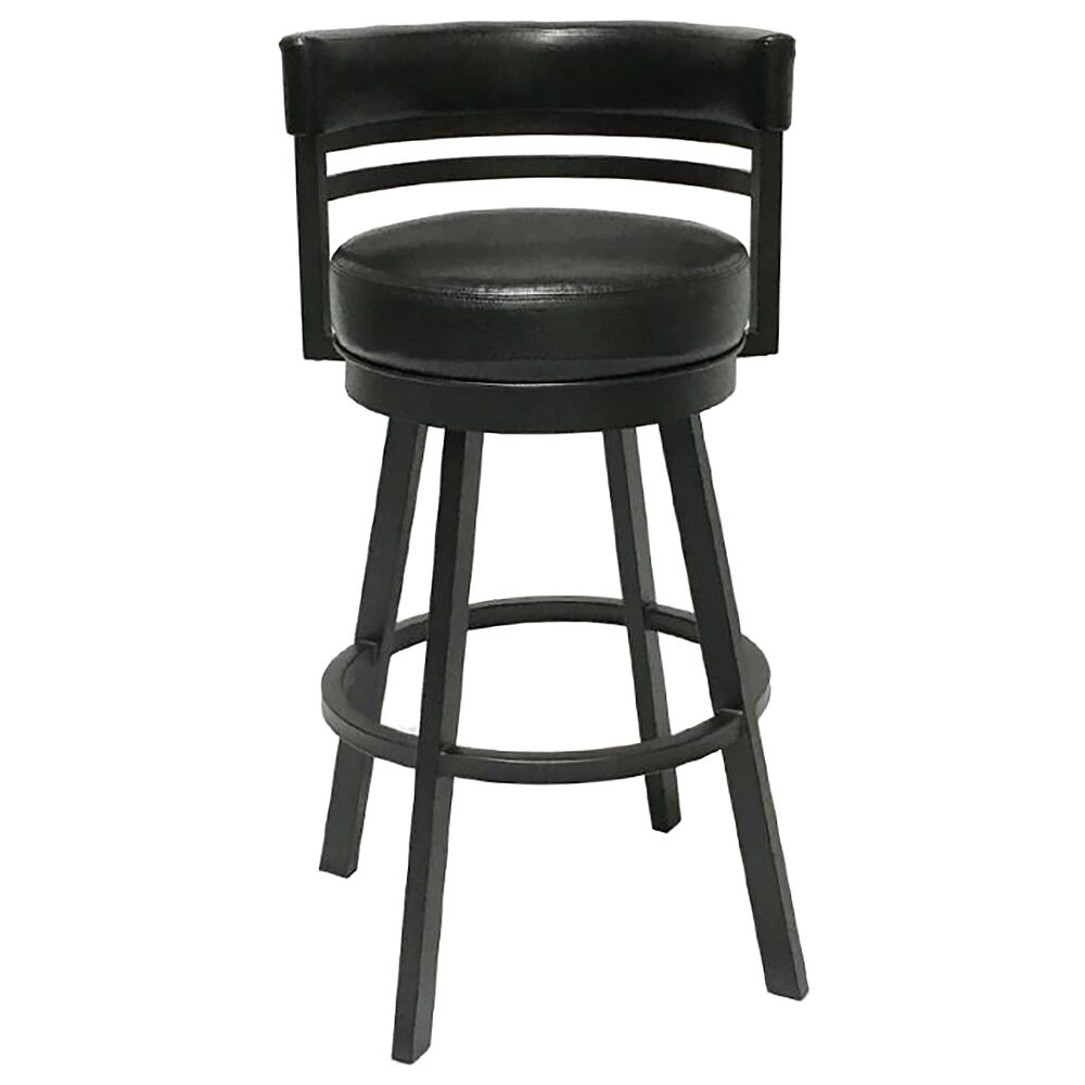 "Delaware Dining Ambridge 30"" Swivel Barstool in Pebblestone/Black, , large"
