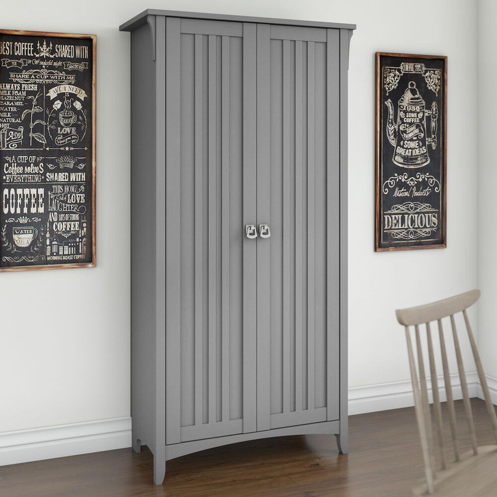Bush Salinas Kitchen Pantry Cabinet in Cape Cod Gray, , large