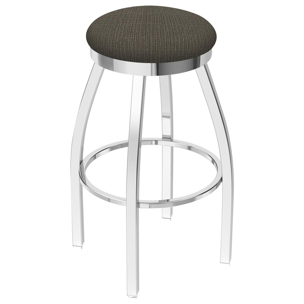 """Holland Bar Stool 802 Misha 25"""" Swivel Counter Stool with Chrome and Graph Chalice Seat, , large"""