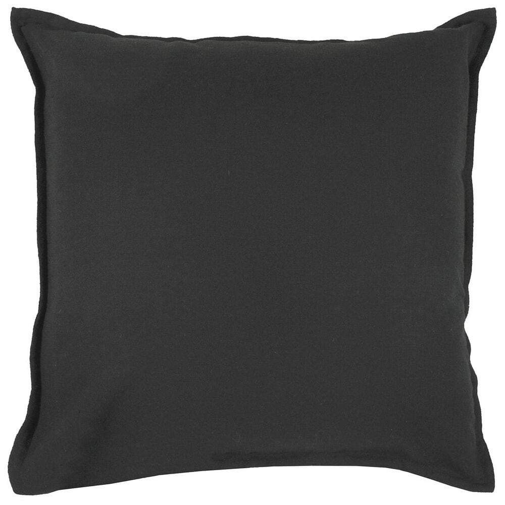 """Rizzy Home 20"""" x 20"""" Pillow Cover in Solid Black, , large"""