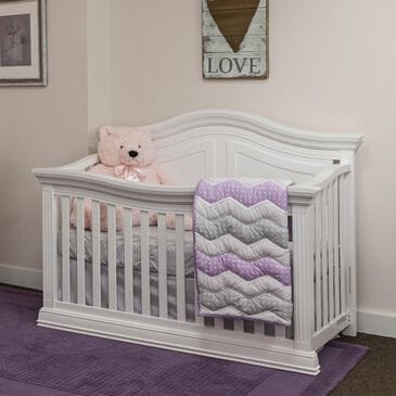 Little Dreamer Providence 4-in-1 Convertible Crib in White, , large