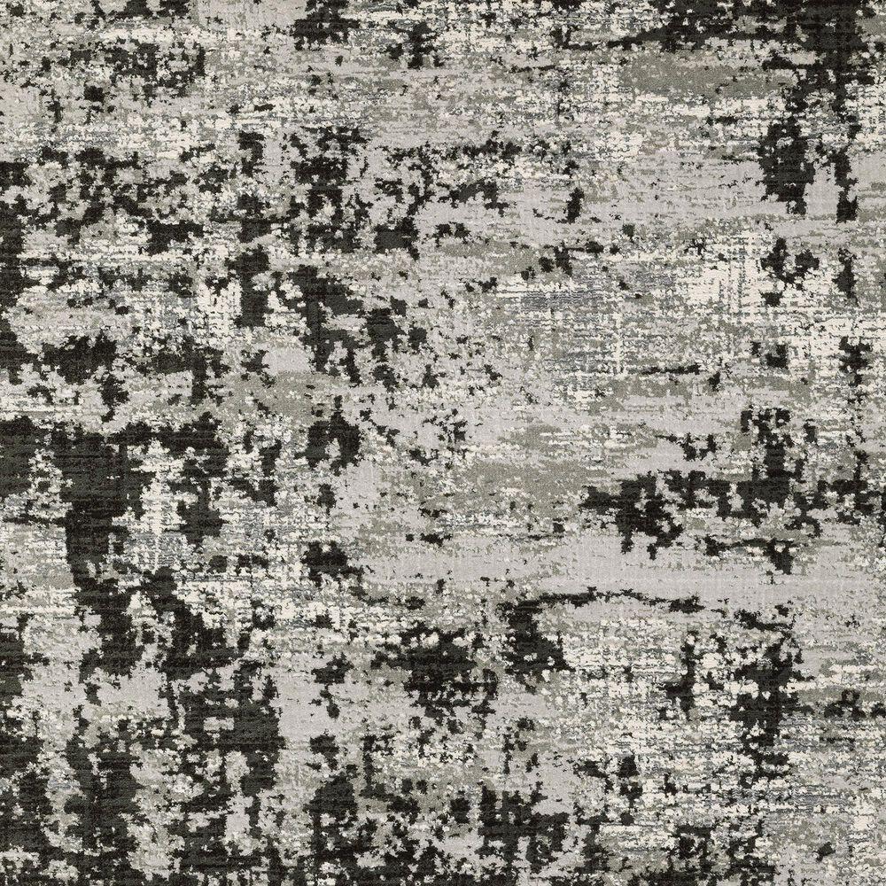 "Oriental Weavers Caravan Greyed Out 9'10"" x 12'10"" Grey and Black Area Rug, , large"