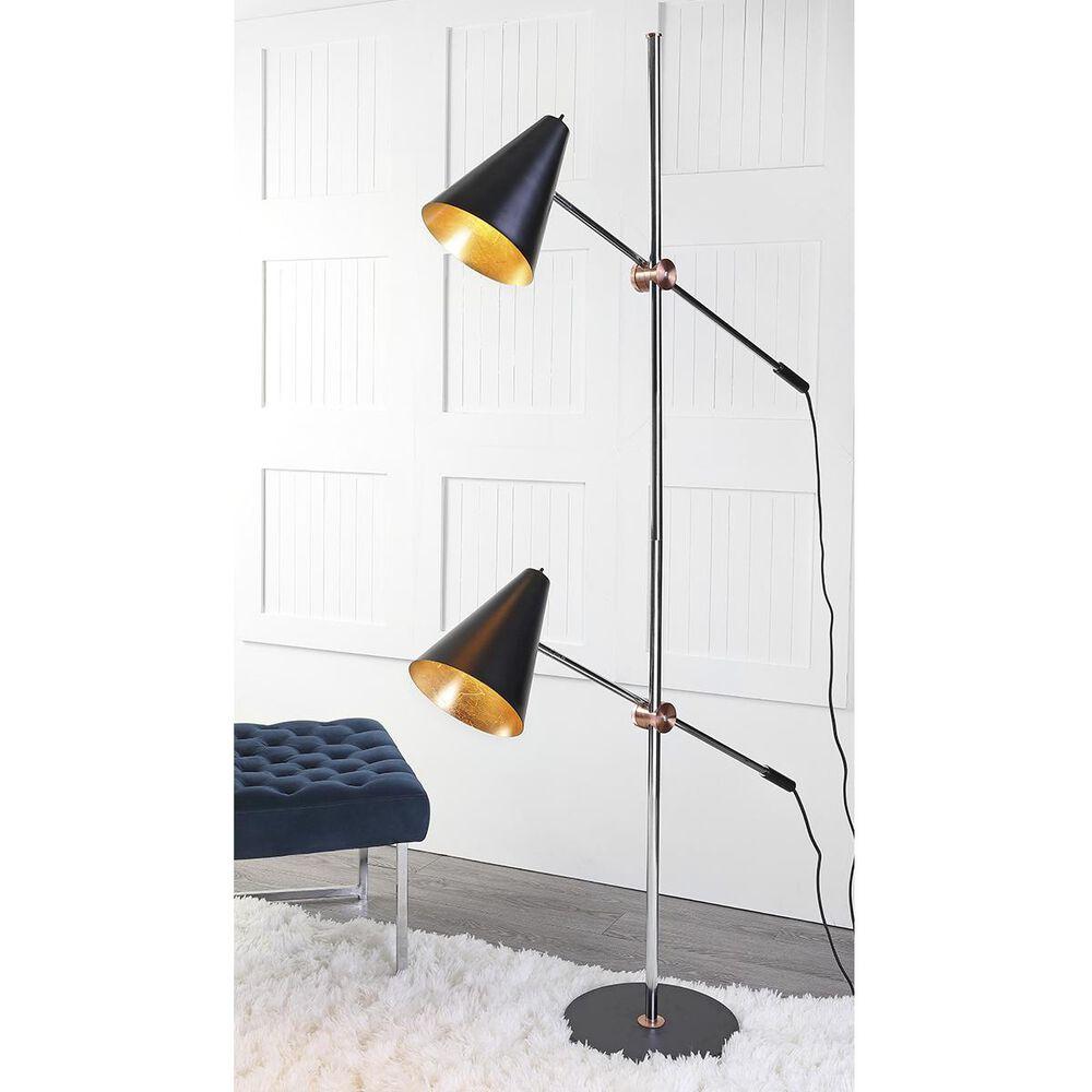 "Safavieh Reed 71"" Floor Lamp in Chrome/Black, , large"
