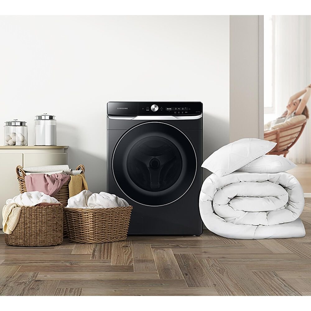 Samsung 5 Cu. Ft. Smart Dial Front Load Washer with OptiWash in Brushed Black, , large