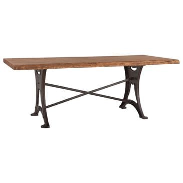 """Home Trends & Design Organic Forge 94"""" Dining Table in Raw Walnut and Antique Zinc, , large"""