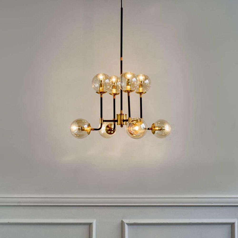 Mercana Kipling I 8-Light Chandelier in Matte Black and Gold, , large