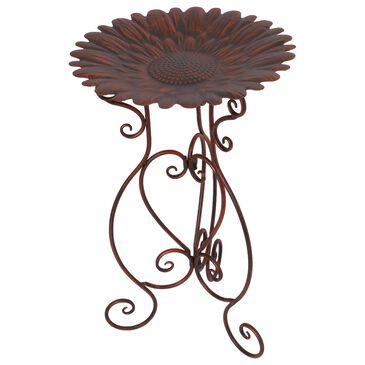 "The Gerson Company 24"" Sunflower Birdbath in Bronze, , large"