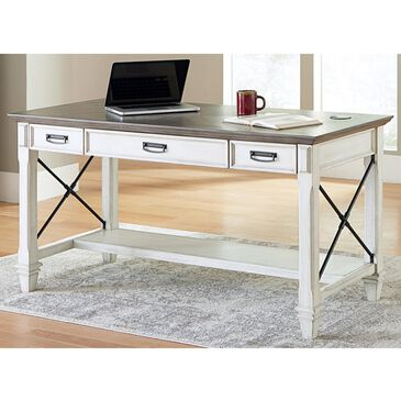 Wycliff Bay Hartford Writing Table in White and Black, , large