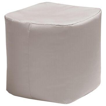 Jaxx Sacks Luckie Patio Bean Bag Ottoman in White, , large