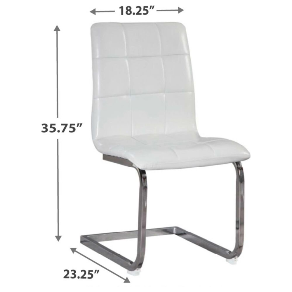 Signature Design by Ashley Madanere Upholstered Side Chair in White (Set of 4), , large