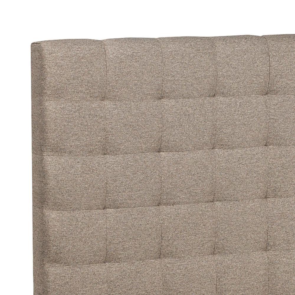 Richlands Furniture Bergen King Upholstered Bed in Natural Herringbone, , large