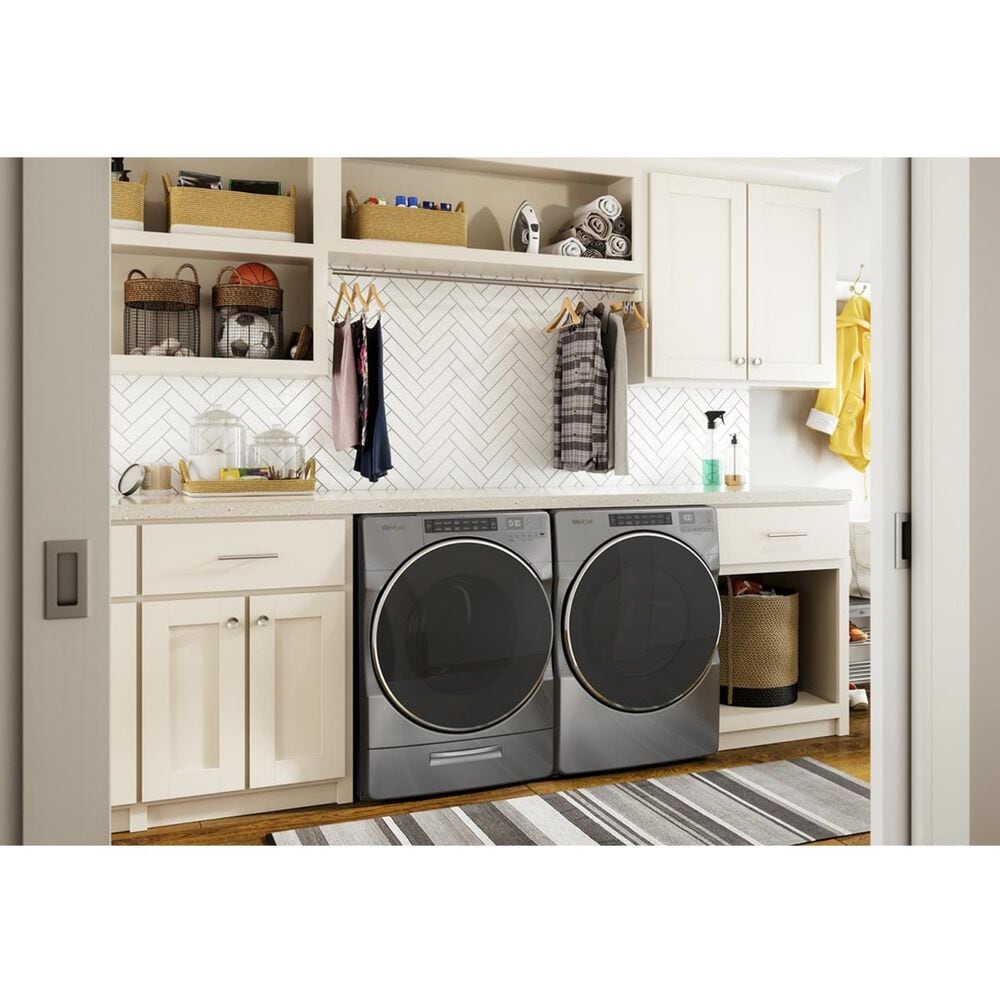 Whirlpool 7.4 Cu. Ft. Front Load Gas Dryer with Steam in Chrome Shadow, , large
