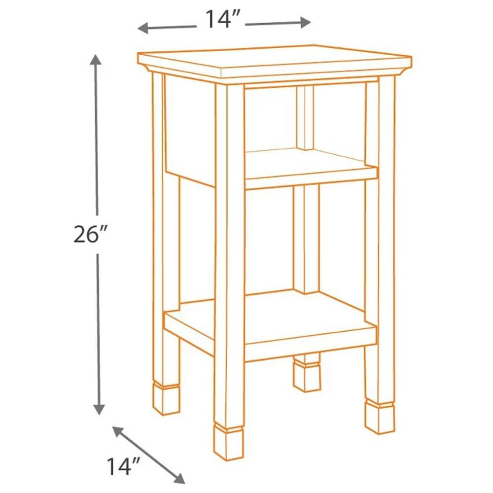 Signature Design by Ashley Marnville Accent Table in White, , large