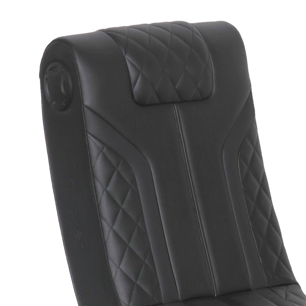 X-Rocker Lux 2.0 Bluetooth Foldable Floor Rocker/Black/Black, , large