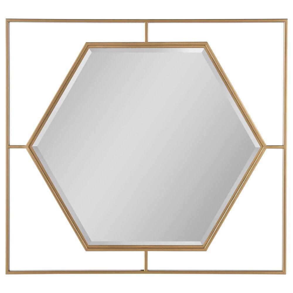 Furniture Worldwide Love Joy Bliss Mirror in Soft Gold, , large