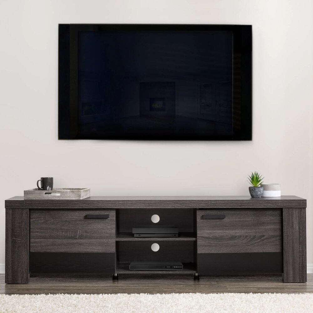 """CorLiving Joliet 80"""" TV Console in Carbon Grey, , large"""