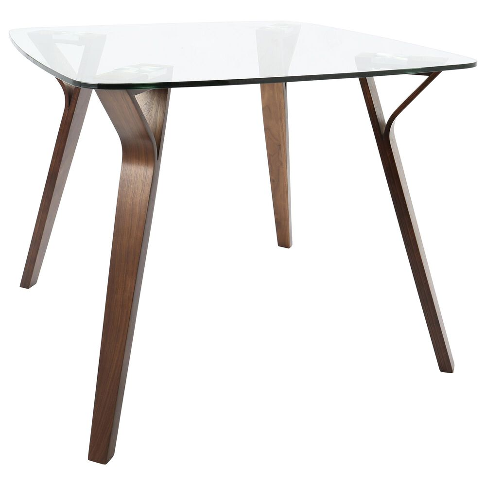 Lumisource Folia Dining Table in Clear/Walnut, , large