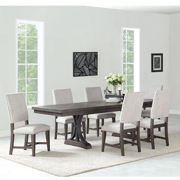 Frankfurt Furniture Revolution 7-Piece Dining Set in Dark Gray, , large