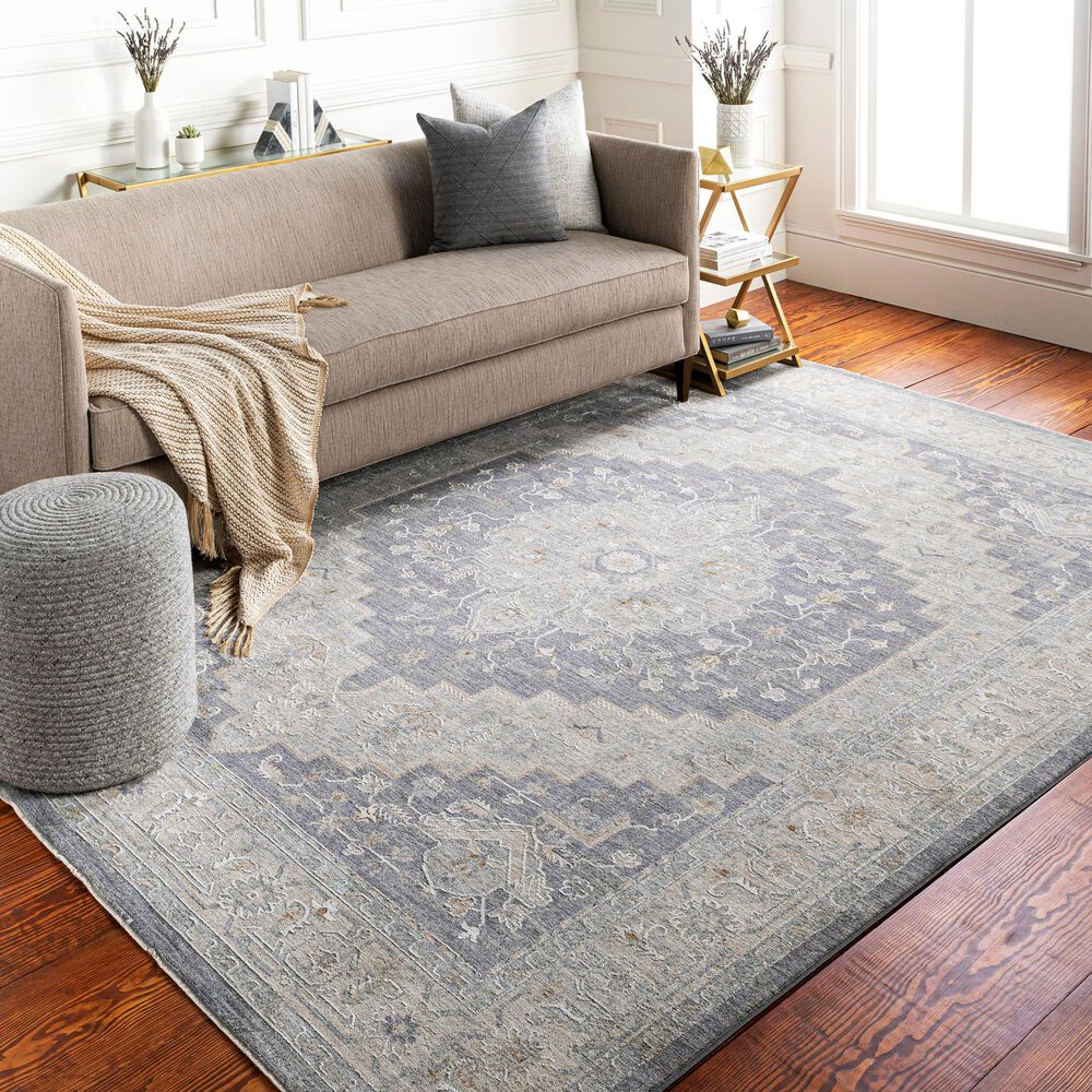 "Surya Avant Garde 5' x 7'5"" Gray, Beige and Denim Area Rug, , large"