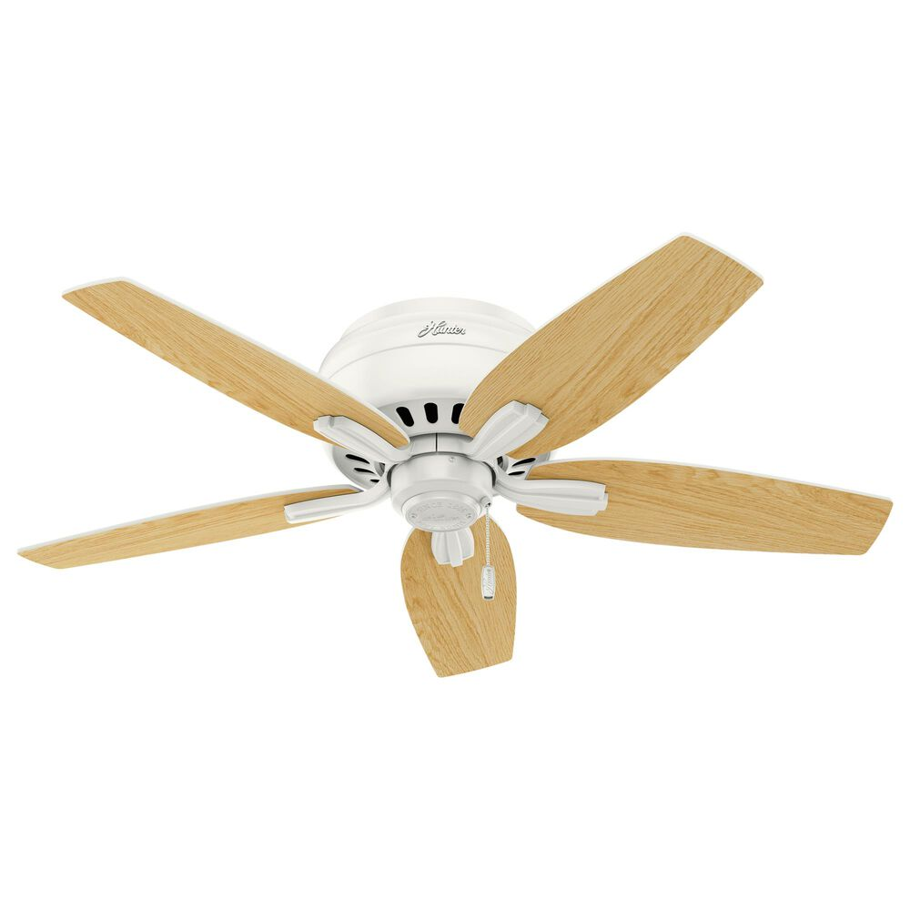"""Hunter Newsome 42"""" Low Profile Ceiling Fan with Light in Fresh White, , large"""