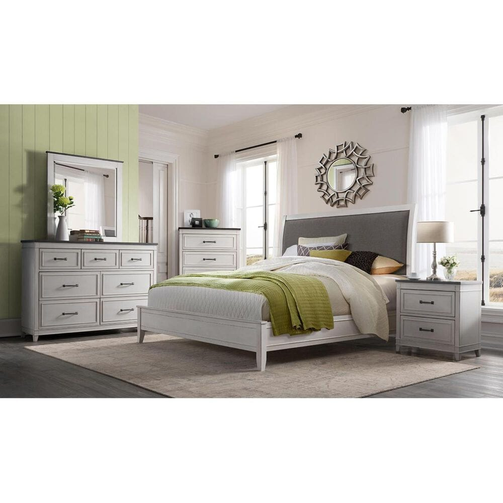 Martin Svensson Home Del Mar Media Chest in White and Grey, , large