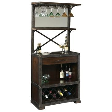 Howard Miller Red Mountain Wine Cabinet in Rustic Hardwood, , large