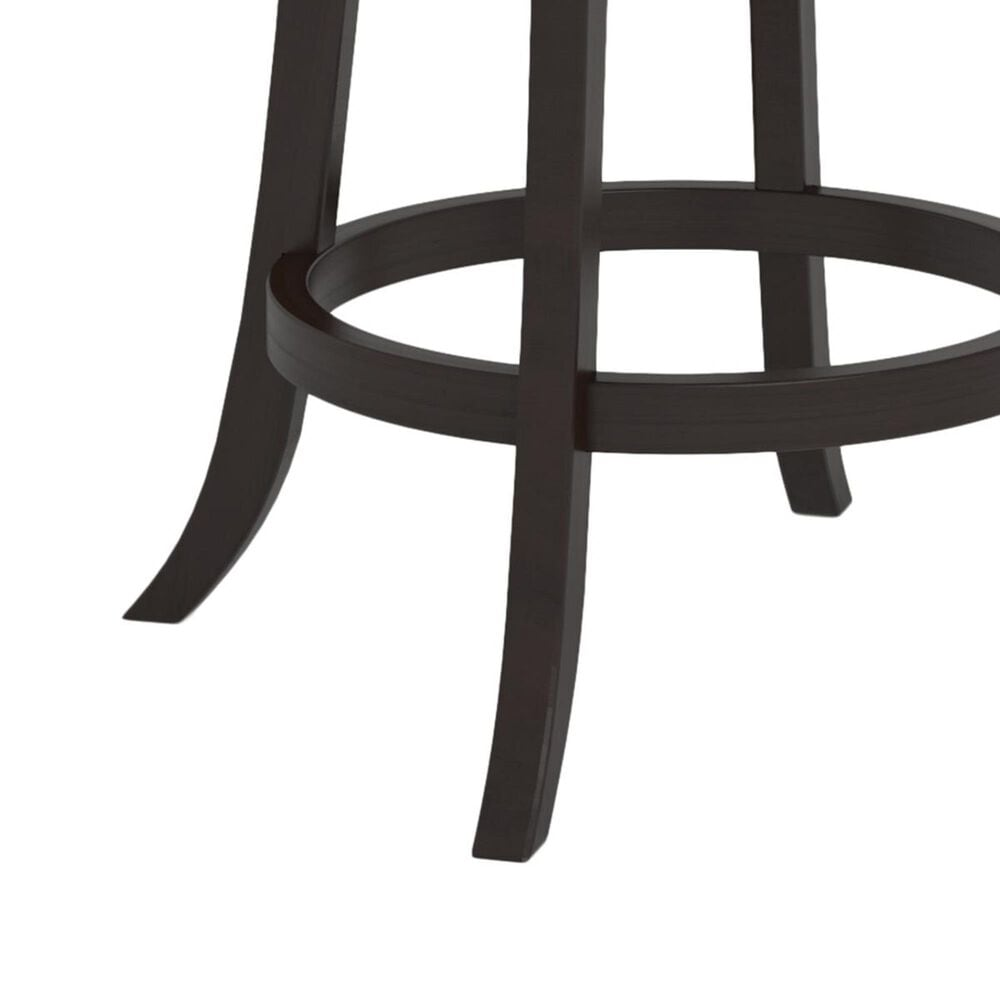CorLiving Woodgrove Counter Stool in Cappuccino and White Cushion, , large