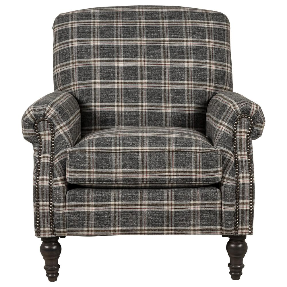 Smith Brothers Occasional Chair in Charcoal Gray, , large