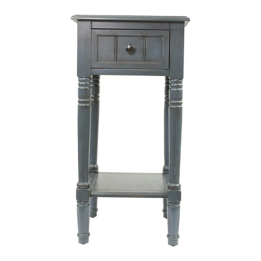 Decor Therapy Antique Navy Simplify 1 Drawer Square Table , , large
