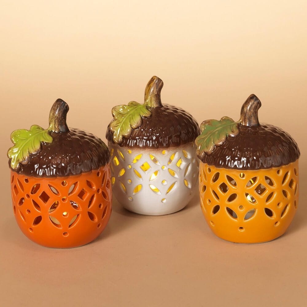 The Gerson Company Carmic Acorns in Orange (Set of 3), , large