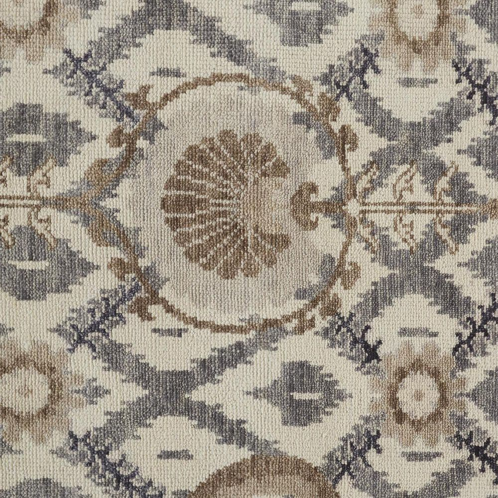 """Feizy Rugs Beall 2'6"""" x 8' Gray and Brown Runner, , large"""
