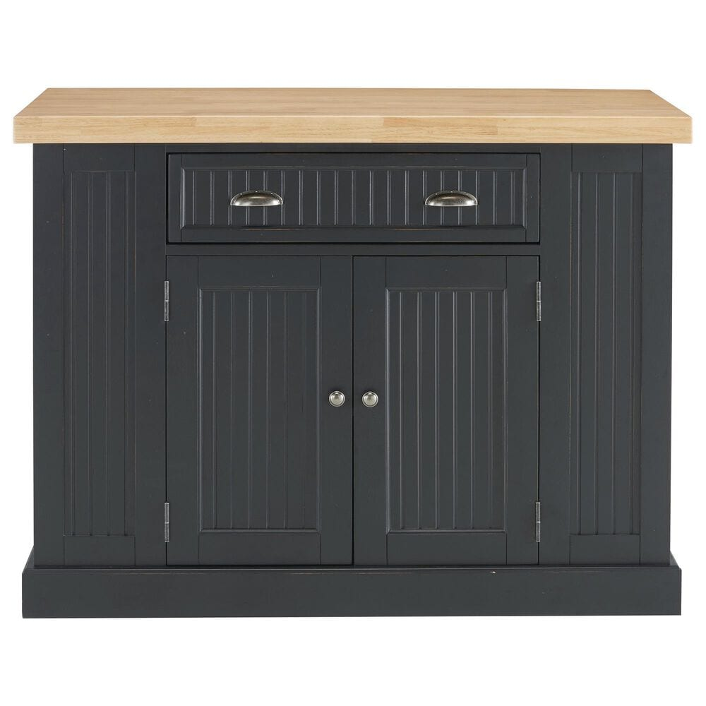 Home Styles Nantucket Kitchen Island in Black, , large