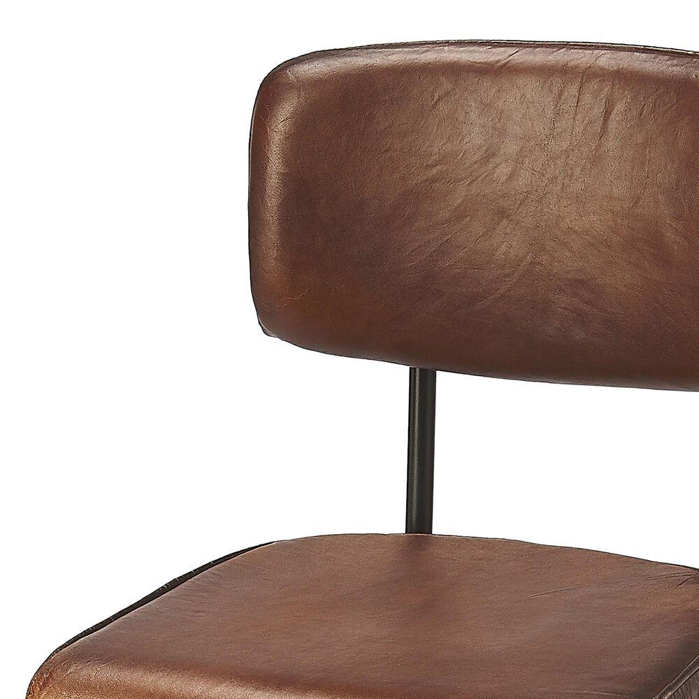 Butler Saddle Counter Stool in Dark Brown, , large
