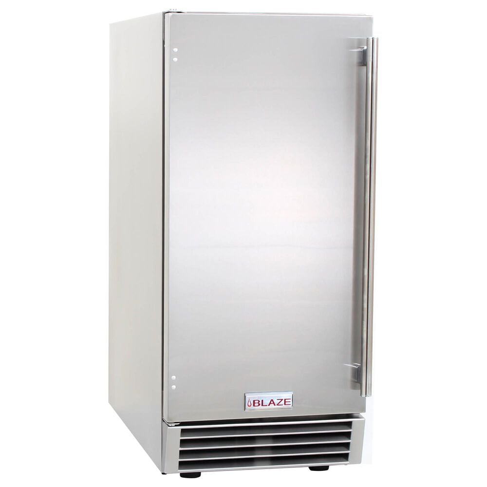"""Blaze 15"""" Outdoor Ice Maker with Gravity Drain in Stainless Steel, , large"""
