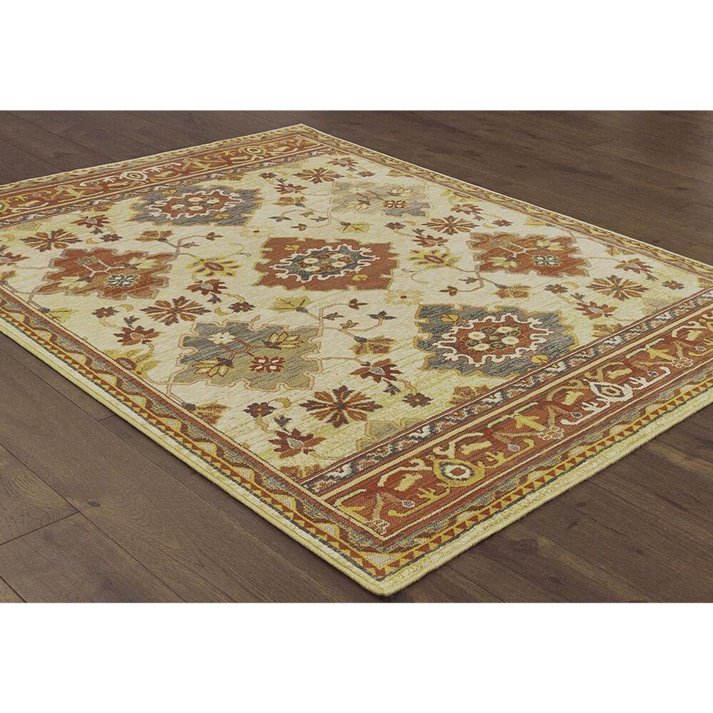 """Oriental Weavers Toscana 9570A 7'10"""" x 10'10"""" Ivory Area Rug, , large"""