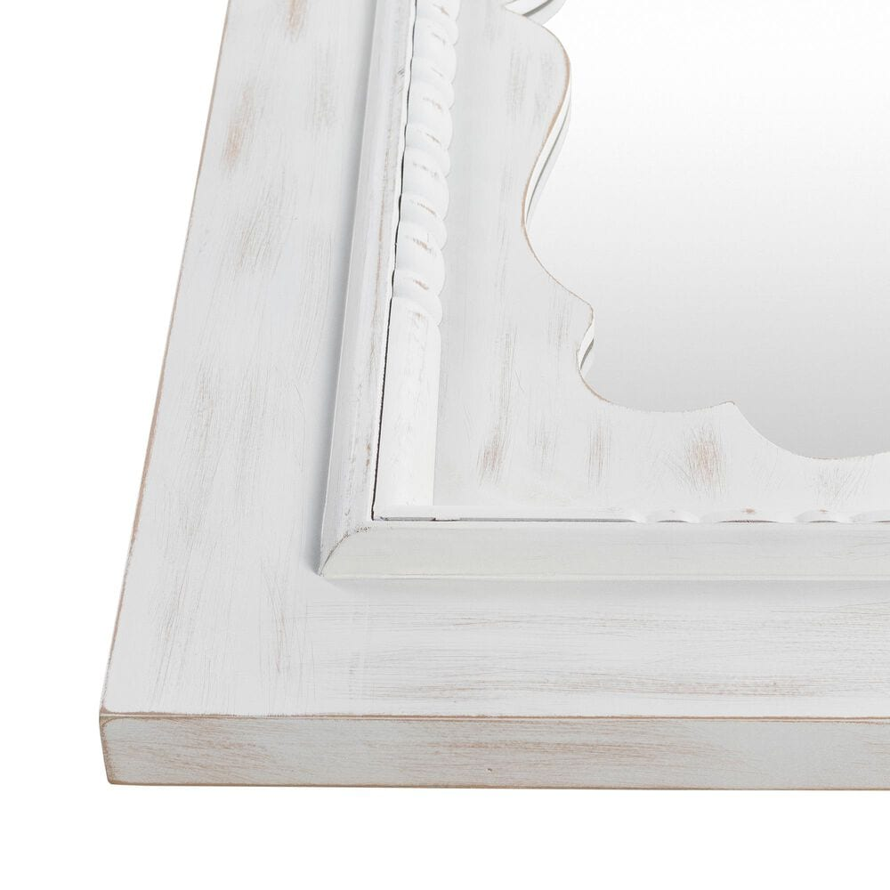Surya Inc Greenville Wall Mirror in White, , large