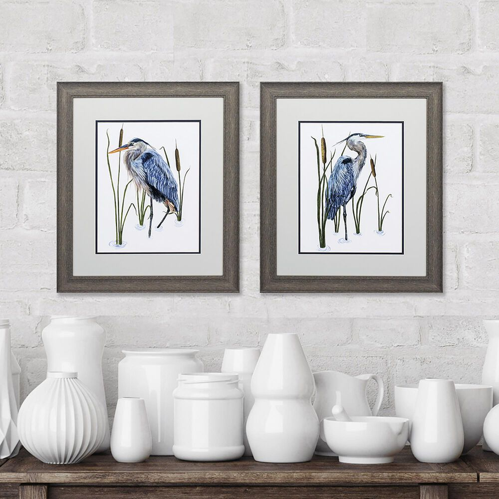 """Propac """"Beside the Lake"""" Wall Art in Blue (Set of 2), , large"""