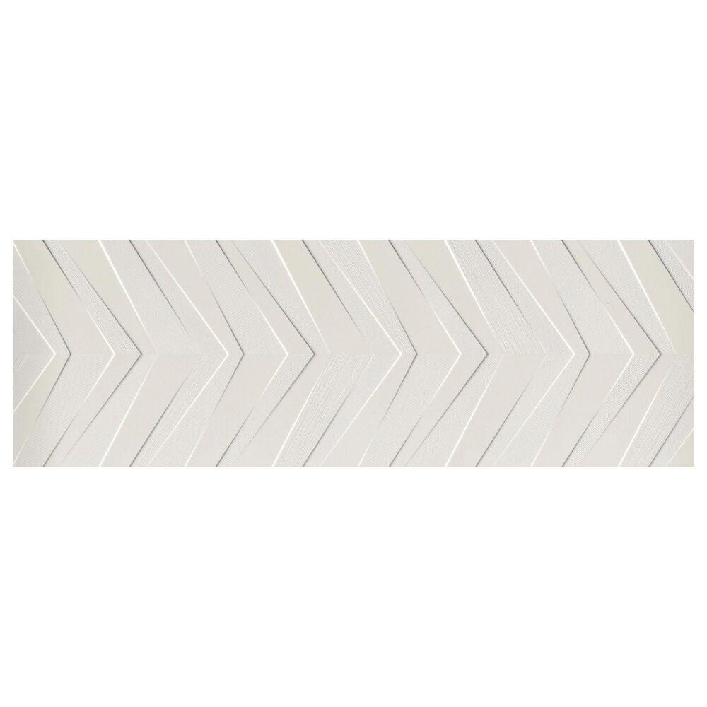 """Emser Synergy White Chevron 16"""" x 47"""" Ceramic Tile, , large"""