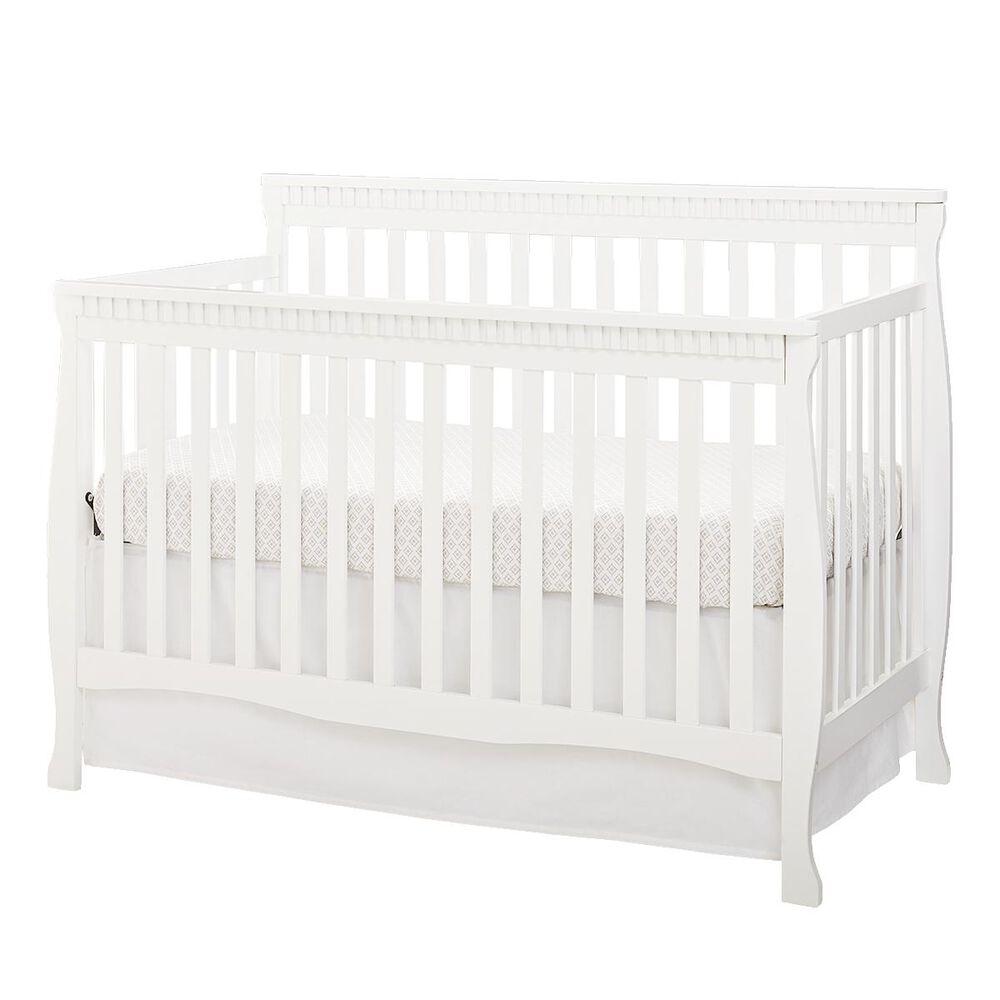 Eastern Shore Emery Slat Convertible Crib in White, , large