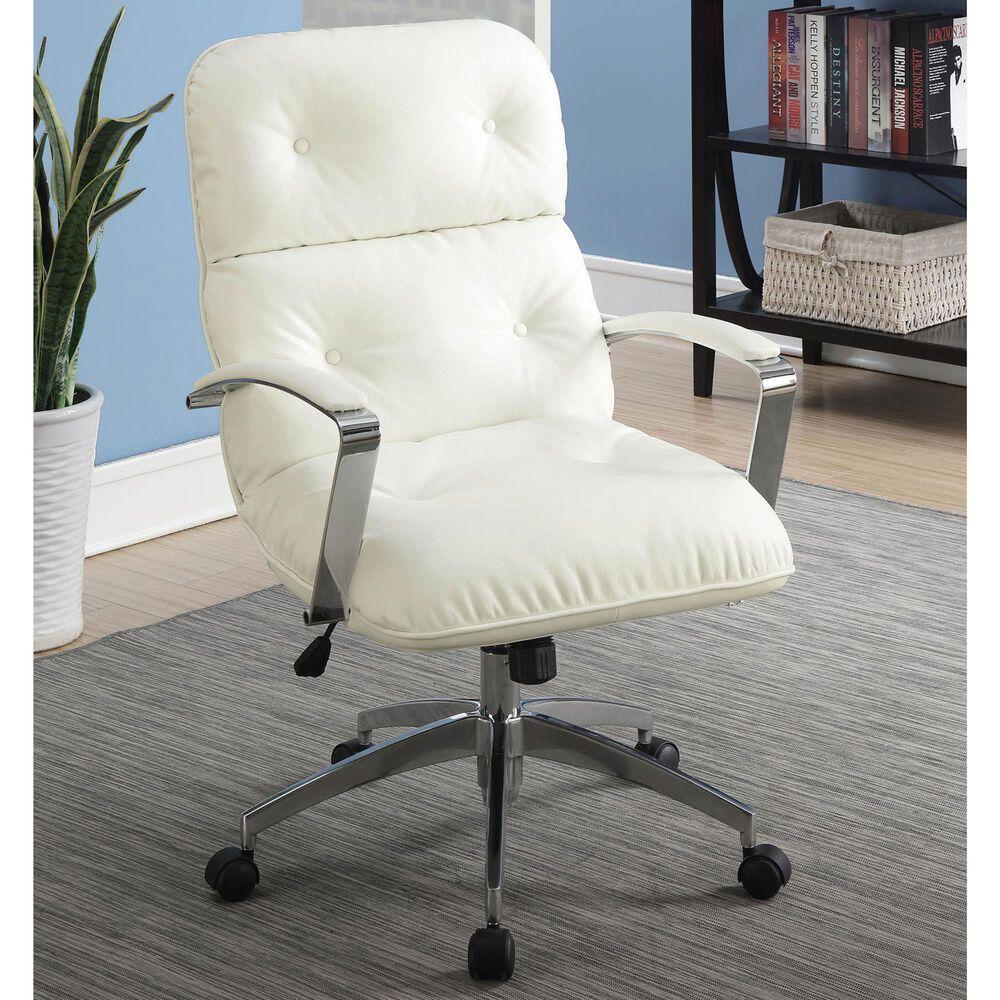 Furniture of America Ballard Office Chair in White, , large