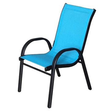 Loni Birch Kids Color Stack Chair in Turquoise, , large