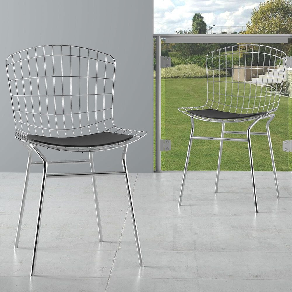 Dayton Madeline 2-Piece Chair with Seat Cushion Set in Silver/Black, , large