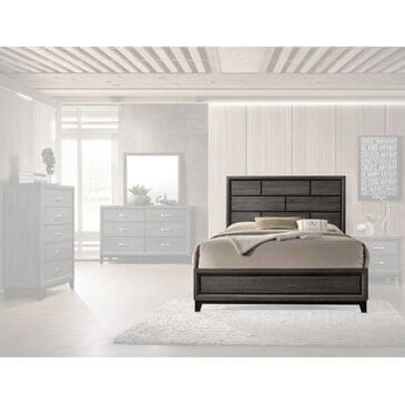 Claremont Akerson King Panel Bed in Grey, , large