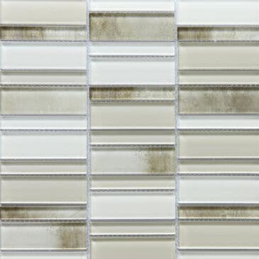 "Emser La Vie Cream 12"" x 12"" Glass Mosaic Sheet, , large"