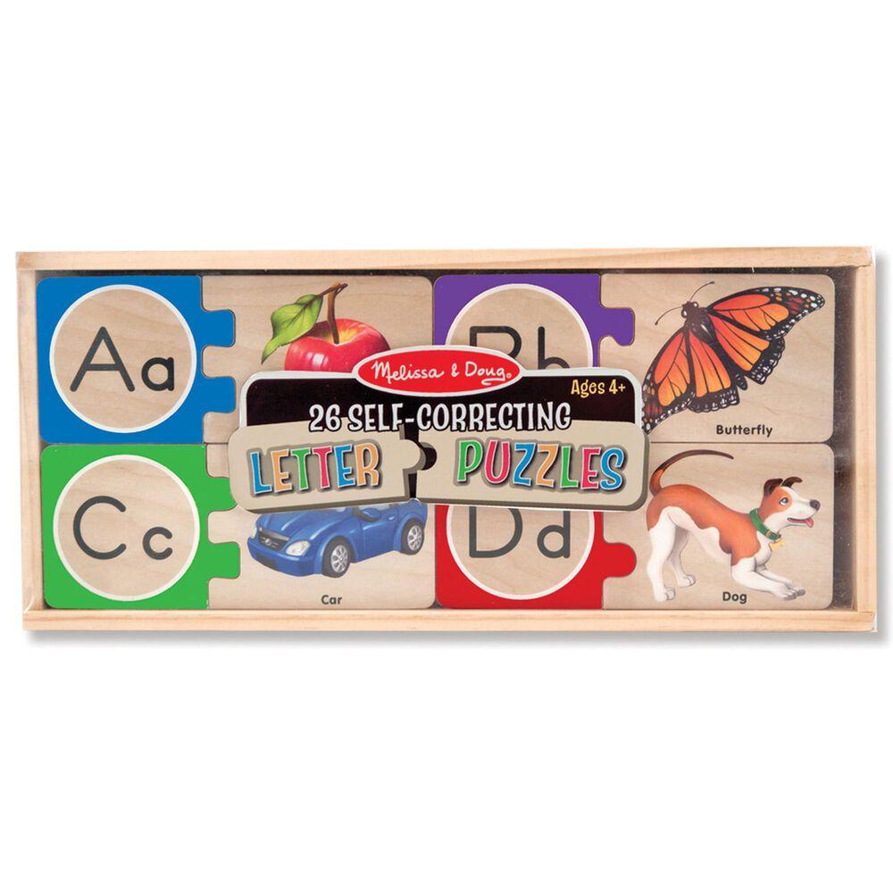 Melissa & Doug Self-Correcting Alphabet Letter Puzzles, , large