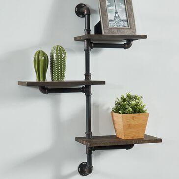 Furniture of America Mcgee Floating Wall Shelf in Dark Gray, , large