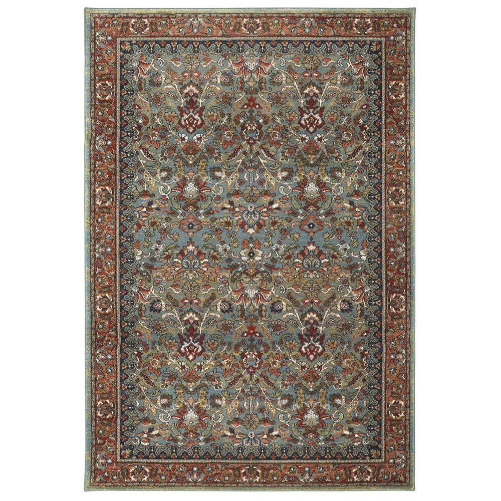 "Karastan Spice Market Tigris 90662-50123 9'6"" x 12'11"" Aqua Area Rug, , large"