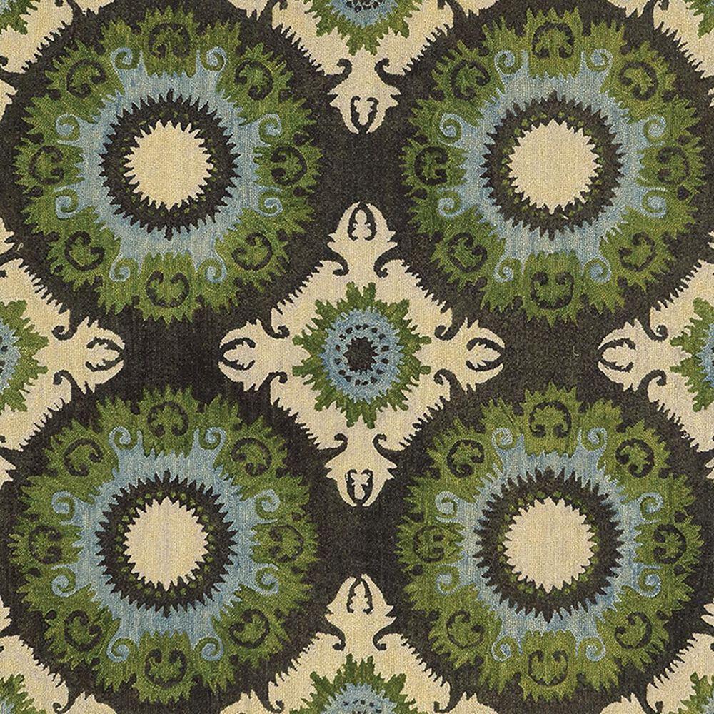 Oriental Weavers Jamison 53307 8' x 10' Black and Green Area Rug, , large